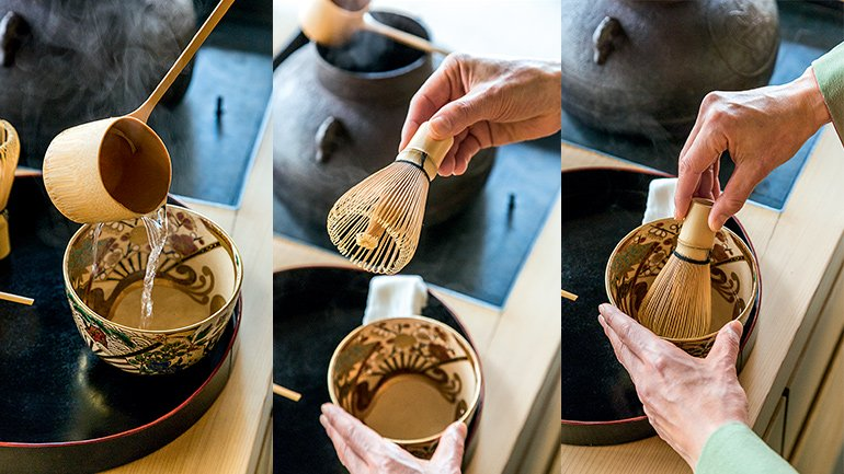 With or without reservation you can come and ask to see the matcha mini-workshop which lasts about 30 minutes and if you wish, a box with all the essentials of the matcha is offered to you at the price of 100 euros including the matcha preparation course.